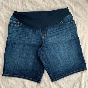 Liz Lange Denim Maternity Shorts